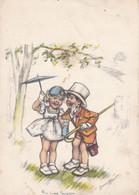 Germaine Bouret Signe Entfants  Illustrateur Artist Drawn  Old Postcard. Cpa. 9 Cm. X 12,5 Cm. !! - Bouret, Germaine