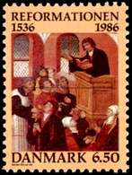 Denmark, 1986, Protestant Reformation In Denmark, Set, MNH, Mi# 886 - Danemark