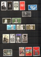 Irlanda Ireland Lot Used 46 Stamps - Ghandi, Ship, Rooster, Ships, Flowers - 1949-... Repubblica D'Irlanda