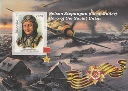 Rwanda 2016 Hero Soviet Union Eroi Russia Nelson Stepanyan Imperf. MNG (Commander) - Seconda Guerra Mondiale