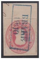 """ALLEMAGNE -1862- OLDENBOURG -- TIMBRE SUR FRAGMENT -- 1 GR -- OBLITERATION BLEUE DE """"BRAKE""""--PIECE OF COVER -- - Oldenburg"""