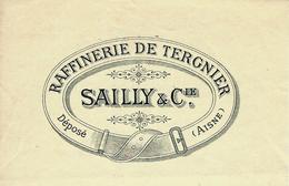 """1904 ENTETE MANDAT FISCAL RAFFINERIE DE TERGNIER (Aisne)  1904 """"SAILLY ET CIE"""" Pour Pinchant à Charleville B.E. V.SCANS - France"""