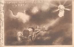 """0575 """"(TO) ED IN PRINCIPIO IDDIO DISSE F.I.A.T. E LA FIAT FU - L. STORERO-AG. GENERALI AUTOMOBILI"""". CART  SPED 1906 - Cartes Postales"""
