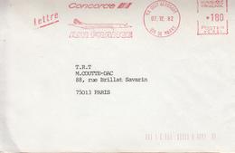 Flame  Sur Lettre  CONCORDE - 1946-....: Moderne