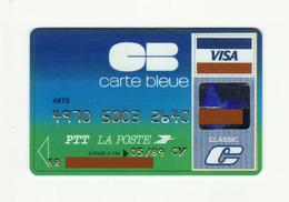 La Poste FRANCE Carte Bleue VISA Expired 1989 - Krediet Kaarten (vervaldatum Min. 10 Jaar)