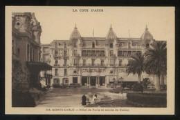 Monte-Carlo. *Hôtel De Paris Et Entrée Du Casino* Ed. Munier Nº 319. Nueva. - Casino