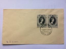 BRITISH SOLOMON ISLANDS - 1953 Coronation FDC With Honmra Postmark - British Solomon Islands (...-1978)
