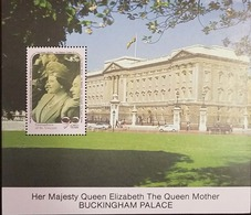 L) 1990 GRENADINES OF ST. VINCENT, HER MAJESTY QUEEN ELIZABETH THE QUEEN MOTHER BUCKINGHAM PALACE, CARS, 90 GLORIOUS YEA - St.Vincent & Grenadines