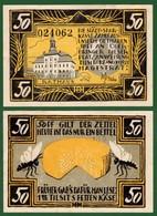 B-36207 TILSIT Germany 1921. Local Banknote-notgeld 50 Pf. - [11] Lokale Uitgaven