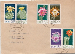 Postal History Cover: Germany / DDR Full Set On Cover - Cactusses