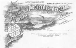 """0582 """"TORINO - ETTORE ALBASINI & C. - SOC. ANONIMA PER L'AMIANTO DEL CAPO-THE CAPE ASBESTOS CO LTD"""" BOZZETTO TIPOGRAFICO - Publicités"""