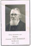 MUIZEN - SINT LAMBRECHTS-WOLUWE ,  Doodsprentje Van Beeldhouwer Joannes VAN EECKHOUT   + 1945 - Religion & Esotérisme