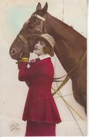 Une Femme Et Son Cheval - Pferde