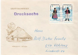 Postal History Cover: Germany / DDR  Full Set On 3 Covers - Costumes