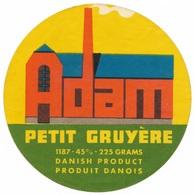 Adam Petit Gruyère - 225 Grams Danish Product/Produit Danois  - Cheese Label - Cheese