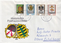 Postal History Cover: Germany / DDR  Full Sets On 2 Covers - Covers