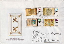 Postal History Cover: Germany / DDR  Full Sets On 2 Covers - Museums