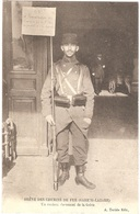 Dépt 75 - PARIS - GRÈVE DES CHEMINS DE FER (octobre 1910) - Gare Saint-Lazare - Un Curieux Document De La Grève - Pariser Métro, Bahnhöfe