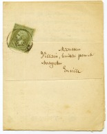 E3-N° 19  Sur Imprimé Rethel Ardennes - Marcophilie (Lettres)