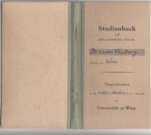 STUDIENBUCH RECHTS U. STAATSWISSENSCHAFTEN 1950 - 40 Seiten, Eintragungen Mit Stempelmarken - Historische Dokumente