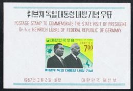1967 Heinrich Lübke Michel Block 247 Postfrisch Xx - Korea (Süd-)