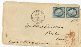 E6- Lettre Pour  Boston Le 1/7/75 - 1849-1876: Période Classique