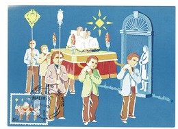 Malta 1981 FDC Maximum Card Yv. 641 Christmas / Noël / Weihnachten / Kerstmis (2 Scans) - Malte