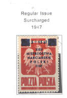 Polonia SP.1947 Reg.Em.Surch. Scott.B 54 See Scan On Scott.Page; - 1944-.... Repubblica