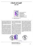 """"""" GENERAL DE GAULLE """" SIGNE Sur Document A4 1er Jour De 1990 (par H. SAINSON Dessinatrice) N° YT 2634. Parfait état - De Gaulle (General)"""