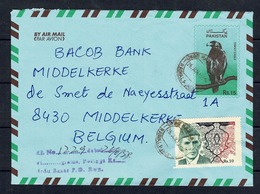 Pakistan Air Mail Lettre To Belgium - Pakistan