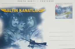 L) 2001 TURKEY, PILOT, AIRPLANE, GOLDEN WINGS, POSTCARD - Turkey