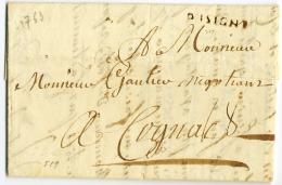 E8-D'ISIGNY  En Noir Calvados 1763 Indice 19 - 1701-1800: Precursors XVIII