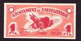 España - Spain 1 Peseta Ayuntamineto Del Castelterrsol UNC - [ 2] 1931-1936 : Repubblica