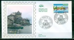 FDC ( Soie,silk,Seide ) # 2006 -France #  Tourisme # Vue Panoramique De Yvoire # Yvoire (Haute-Savoie) - 2000-2009