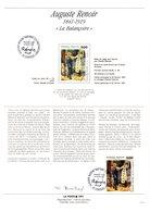 """"""" LA BALANCOIRE De RENOIR """" SIGNE Sur Document A4 1er Jour De 1991 (par O. BAILLAIS) N° YT 2692. Parfait état - Documents De La Poste"""