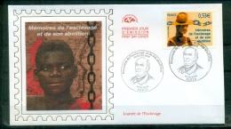 FDC ( Soie,silk,Seide ) # 2006 -France #  Journée De L´esclavage, Slaverei,slavery # Paris - 2000-2009