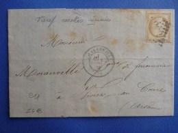 E11-Charleville Pour Mézières Tarif Des Recettes Réunies Ardennes - 1849-1876: Classic Period
