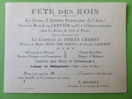 150 - Invitation Royaliste 1933 -  Salons Du Café De Paris - Comtesse Rohan Chabot - Faire-part