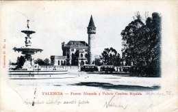 VALENCIA - Fuente Alameda Y Palacio Condesa Ripalda, Gel.1904 Von Spanien Nach Pudapest - Valencia