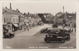 AMSTETTEN (Niederdonau) - Adolf Hitler Platz, Alte Autos, Fotokarte Gel.1941 - Amstetten
