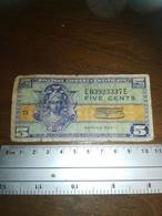 Billet 5 Cents /MILITARY PAYMENT CERTIFICATE - Militaire Betaalcertificaten (1946-1973)