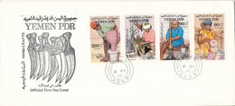 Yemen FDC 6-5-1980 London 1980 Stamp Exhibition Complete Set  Of 4 With Cachet - Yémen