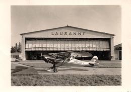 Aviation - Avion Super Piper Avec Skis, Lausanne-Blécherette - Aeródromos