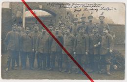 Original Foto - Aarschot Aerschot - Deutsche Soldaten Mit Namen - 1917 - Stempel Landsturm-Batl. Coesfeld - Aarschot