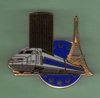 TGV GRIS *** PARIS - EUROPE  *** Signe BALLARD *** Dore OR Fin *** TRAINS-01 - TGV