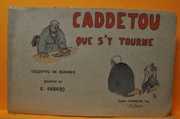 CADDETOU QUE S'Y TOURNE CARNET COMPLET DE 10 CARTES HUMORISTIQUES DE E. GABARD REGION PYRENEES / PATOIS - Francia
