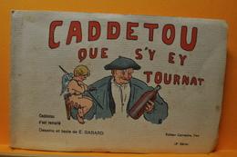 CADDETOU QUE S'Y EY  TOURNAT CARNET COMPLET DE 10 CARTES HUMORISTIQUES DE E. GABARD REGION PYRENEES / PATOIS - Non Classés