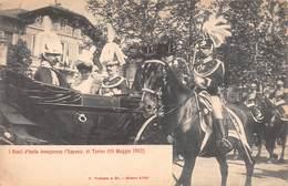 """0596 """"TORINO - I  REALI D'ITALIA INAUGURANO L'ESPOSIZIONE DEL 10 MAGGIO 1902"""" ANIMATA, CAVALLI. CART NON SPED - Inaugurazioni"""