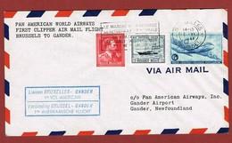 Pan Am First Flight Brussels To Gander  June 17, 1946  ; 2 Scan - Aéreo