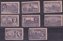 VIGNETTES EXPO UNIVERSELLE PARIS  X8 1900 - Briefmarkenmessen